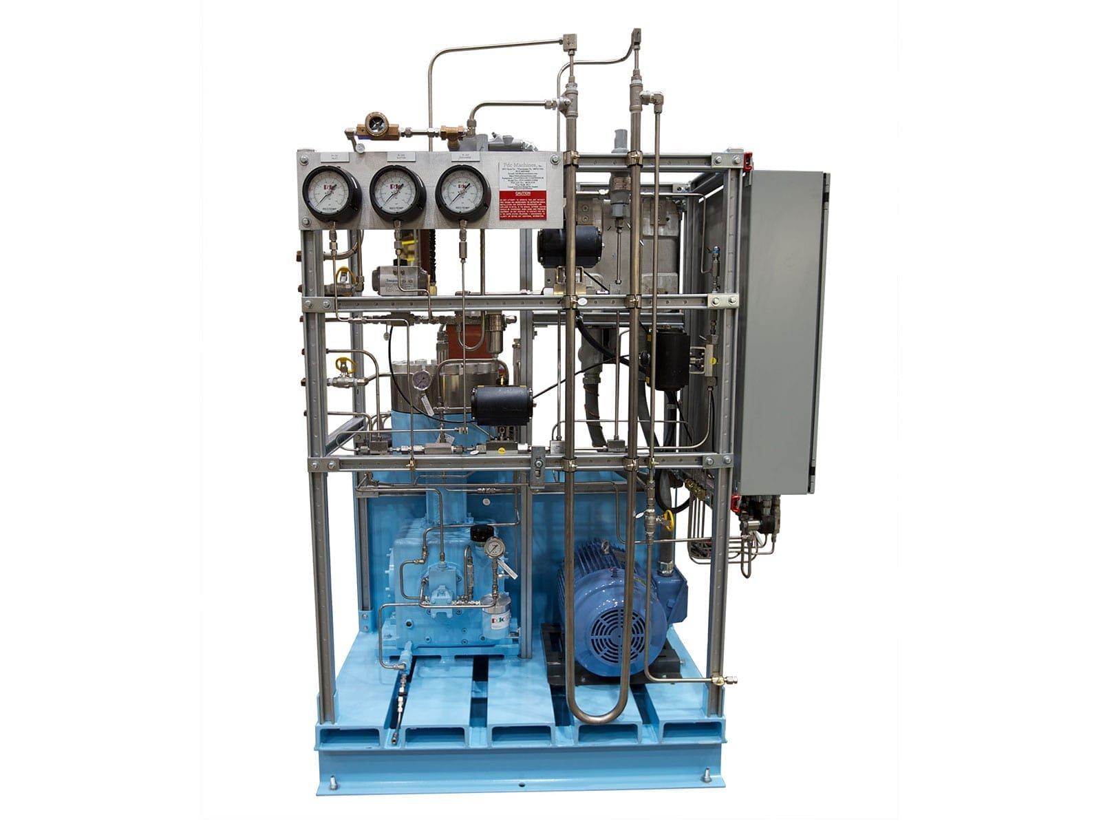 Single stage diaphragm compressor for specialty gas mixture