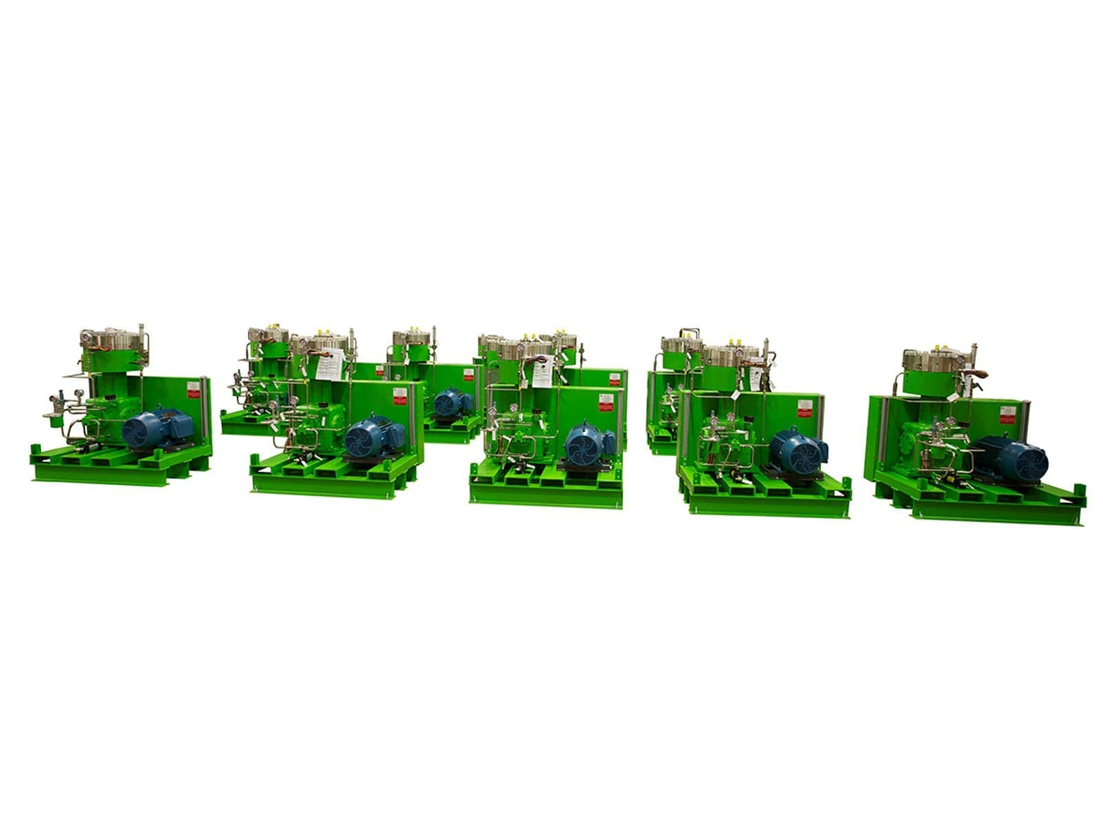 High pressure carbon dioxide recycle compressor