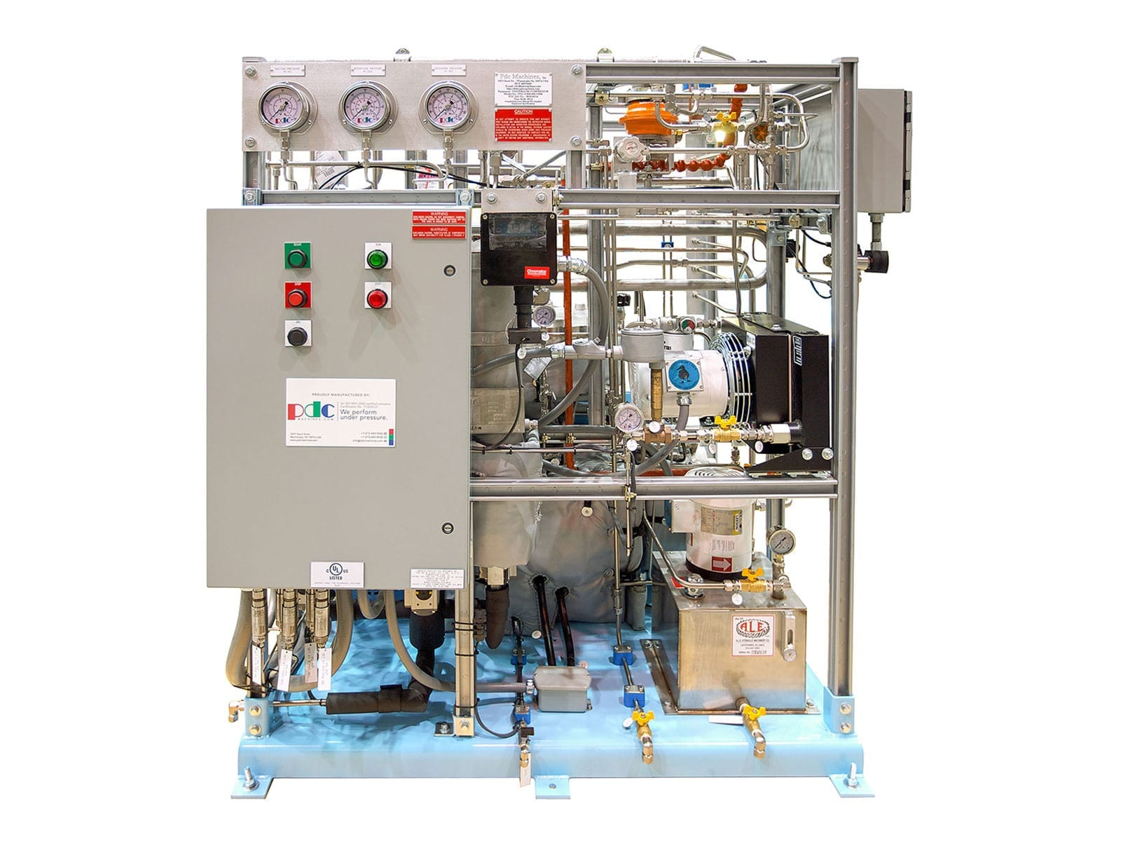 Diaphragm Compressors Membrane Process Gas Pdc Machines Natural Compressor Wiring Diagram Two Stage 10 Hp 7 Kw Motor For Pumping Deuterium This Boosts Pressures From 5 Psig 03 Barg To 600 41