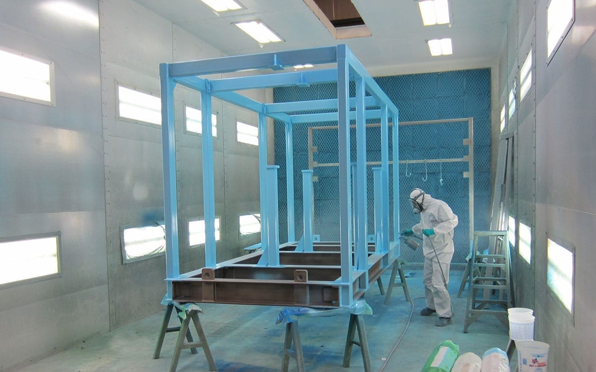 industrial paint booth facility