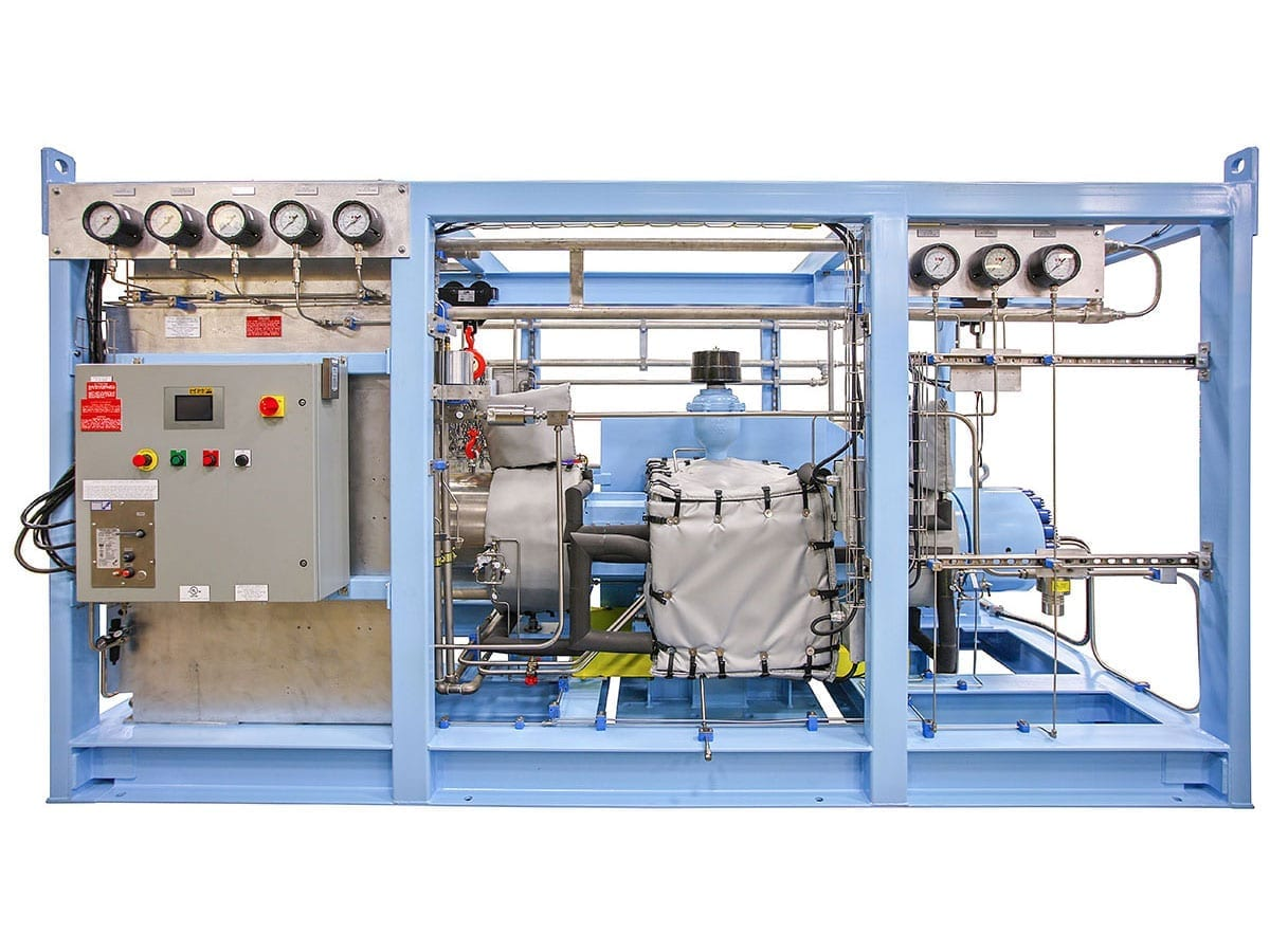 two stage hydrogen compression system in Canada