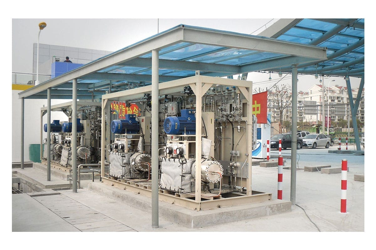 diaphragm hydrogen compressors for bus and vehicle fueling