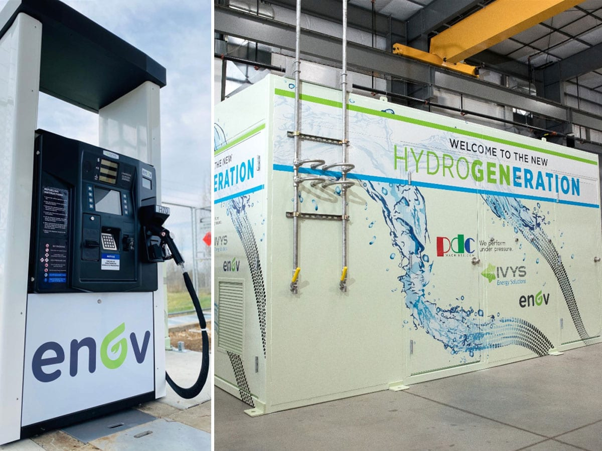 Retail hydrogen fueling station photo