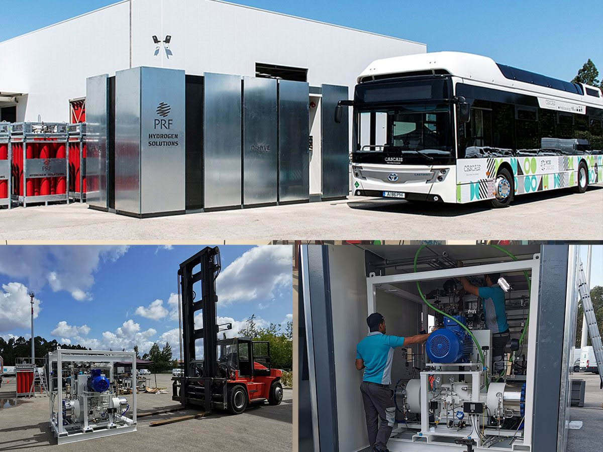 Portugal hydrogen fueling station photo